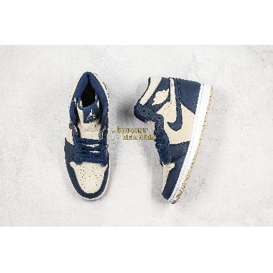 "AAA Quality Air Jordan 1 High ""Navy Cream"" AQ9131-401 Mens Womens midnight navy/light cream-white Shoes replicas On Wholesale Sale Online"