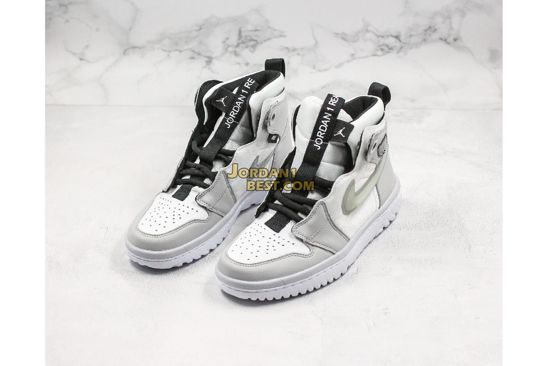 """Air Jordan 1 React High """"Grey Fog"""" AR5321-100 Mens"""