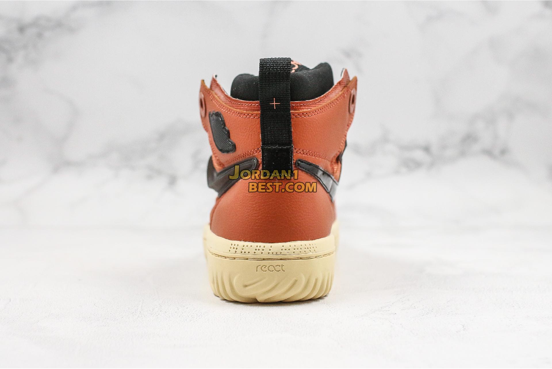 """Air Jordan 1 React """"Brown"""" AR5321-200 Mens"""