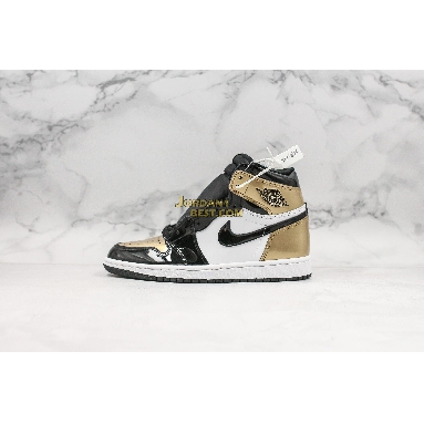 "AAA Quality Air Jordan 1 Retro High OG NRG ""Gold Top 3"" 861428-001 Mens black/black-metallic gold Shoes replicas On Wholesale Sale Online"