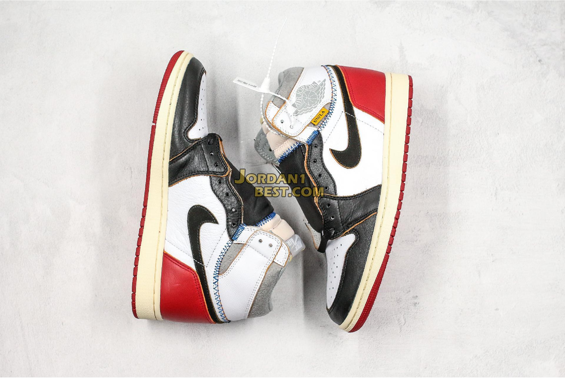 "Union x Air Jordan 1 Retro High ""Black Toe"" BV1300-106 Mens"