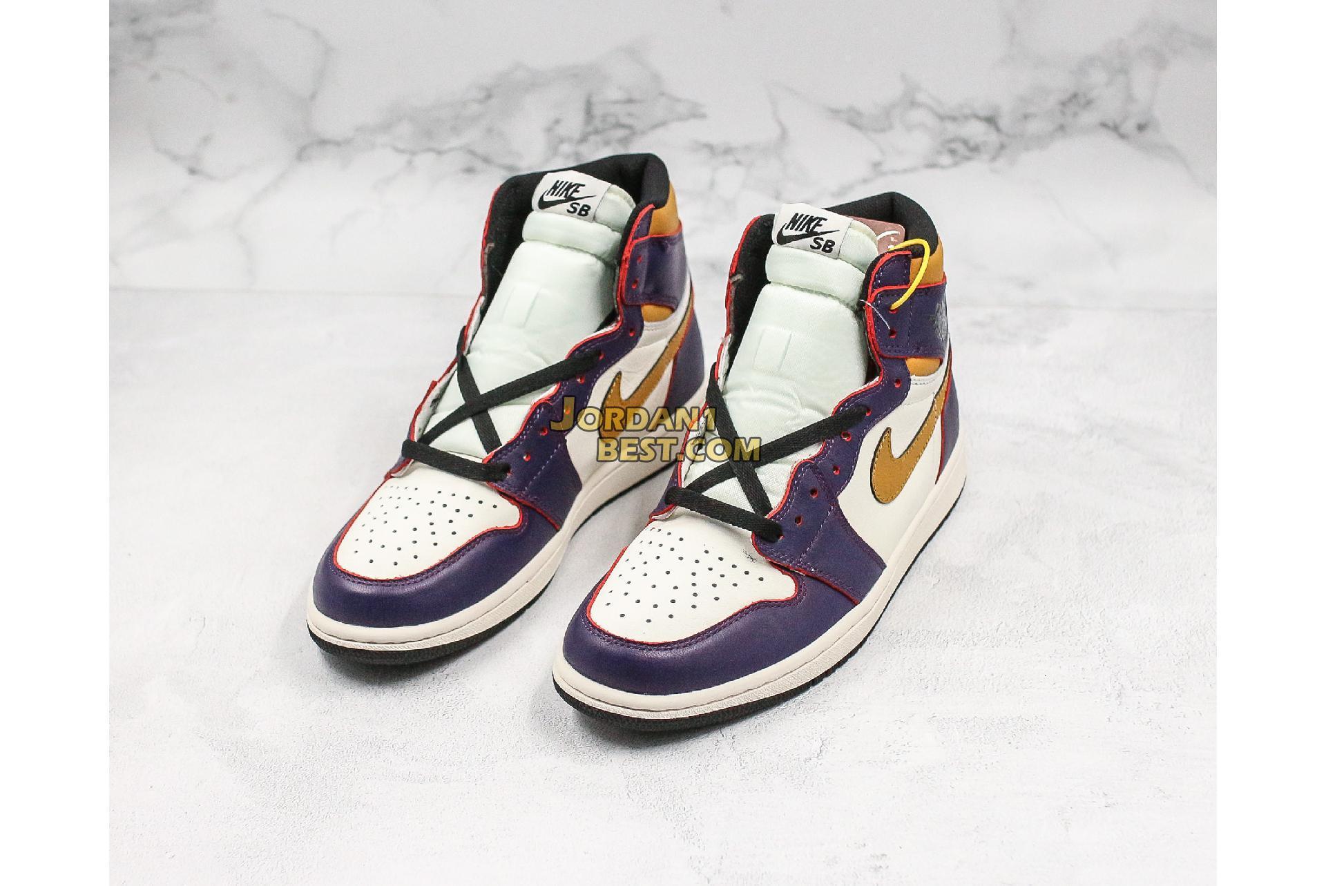 "Air Jordan 1 Retro High SB ""LA To Chicago"" CD6578-507 Mens"