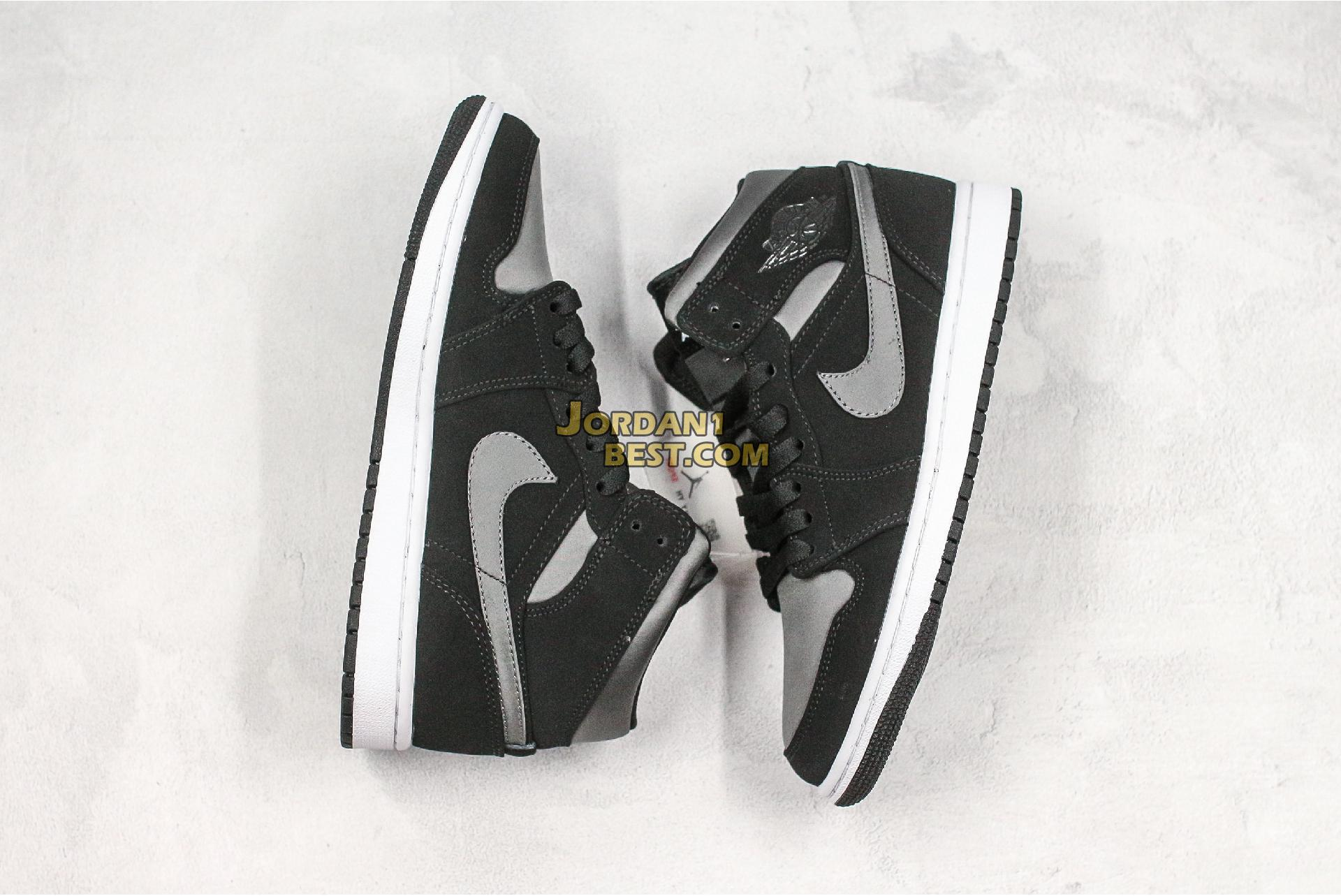 "Air Jordan 1 Mid SE Nylon ""Black Grey"" 852542-012 Mens Womens"