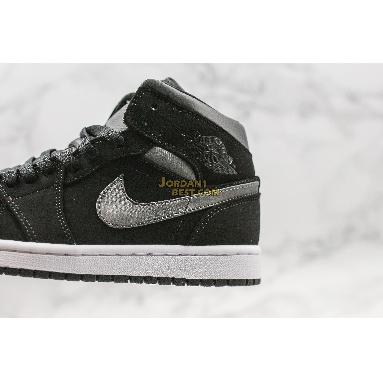 "top 3 fake Air Jordan 1 Mid SE Nylon ""Black Grey"" 852542-012 Mens Womens black/grey Shoes replicas On Wholesale Sale Online"