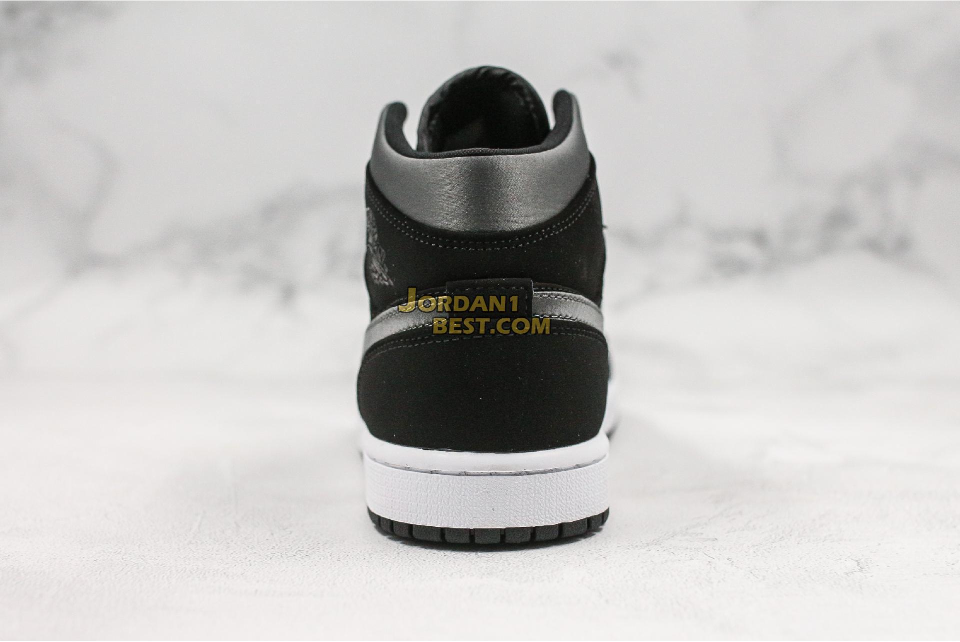 "Air Jordan 1 Mid SE Nylon ""Black Grey"" 852542-012 Mens Womens"