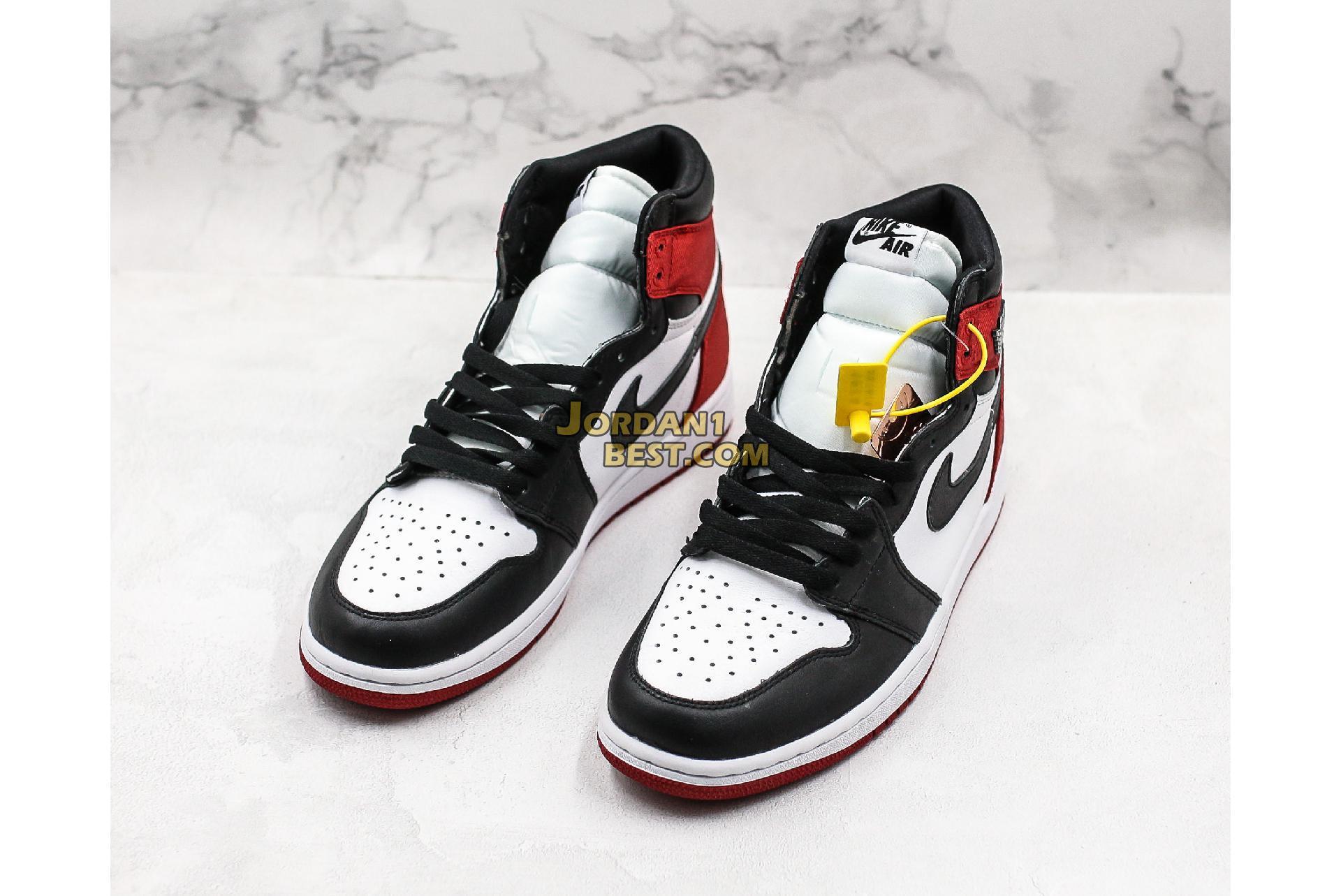 """Air Jordan 1 Retro High """"Satin Black Toe"""" CD0461-016 Mens Womens"""