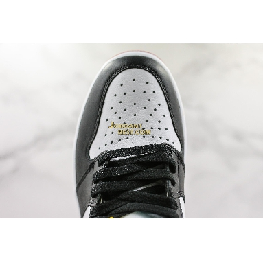 "new replicas Air Jordan 1 Retro High ""Satin Black Toe"" CD0461-016 Mens Womens black-white-varstiy red Shoes replicas On Wholesale Sale Online"