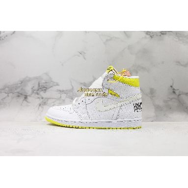 "fake Air Jordan 1 Retro High OG ""First Class Flight"" 555088-170 Mens white/dynamic yellow-black Shoes replicas On Wholesale Sale Online"