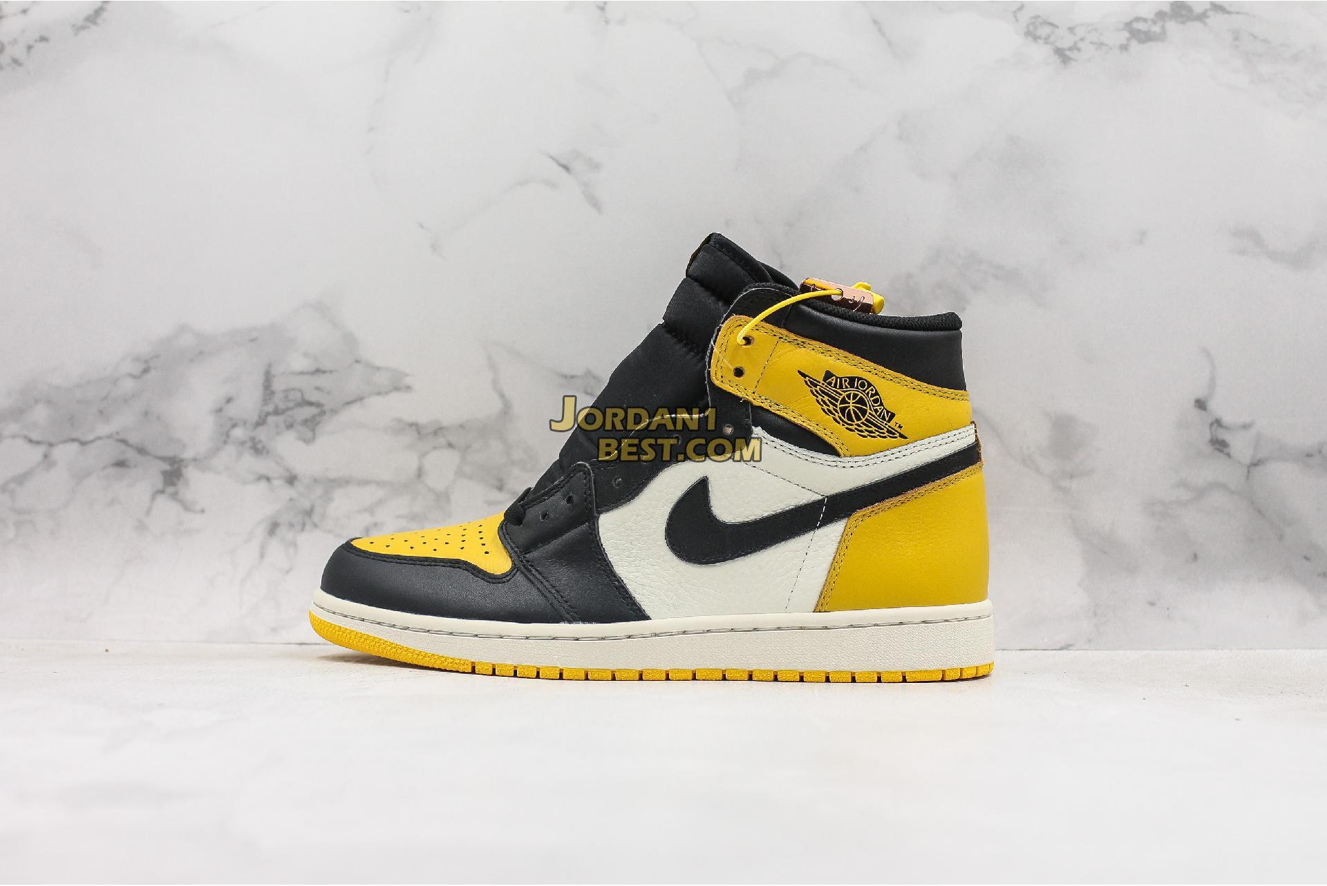 """Air Jordan 1 Retro High OG """"Yellow Toe"""" AR1020-700 Mens Womens"""