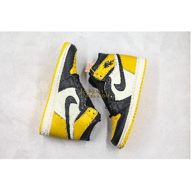 "AAA Quality Air Jordan 1 Retro High OG ""Yellow Toe"" AR1020-700 Mens Womens black/yellow/white Shoes replicas On Wholesale Sale Online"