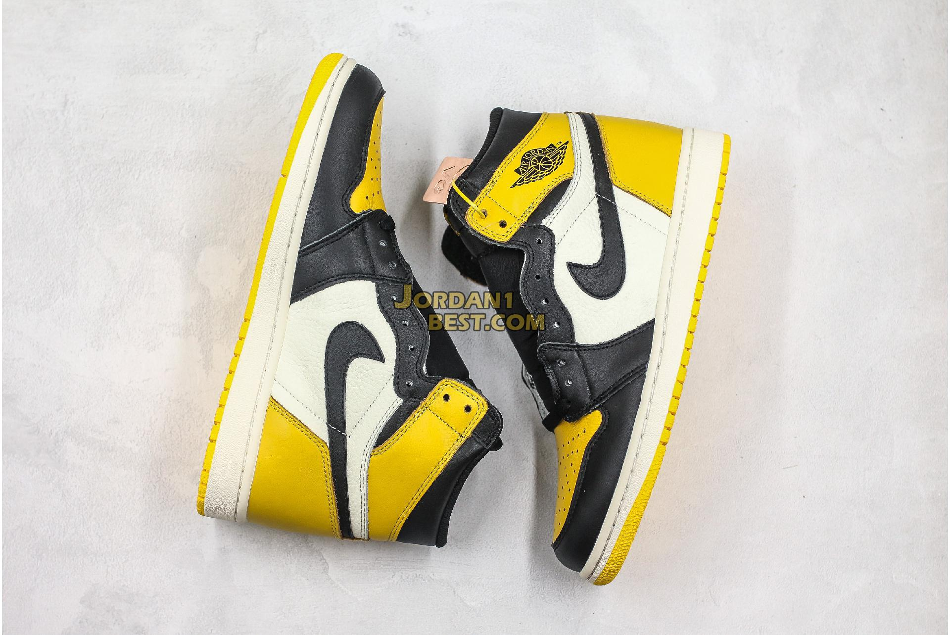 "Air Jordan 1 Retro High OG ""Yellow Toe"" AR1020-700 Mens Womens"