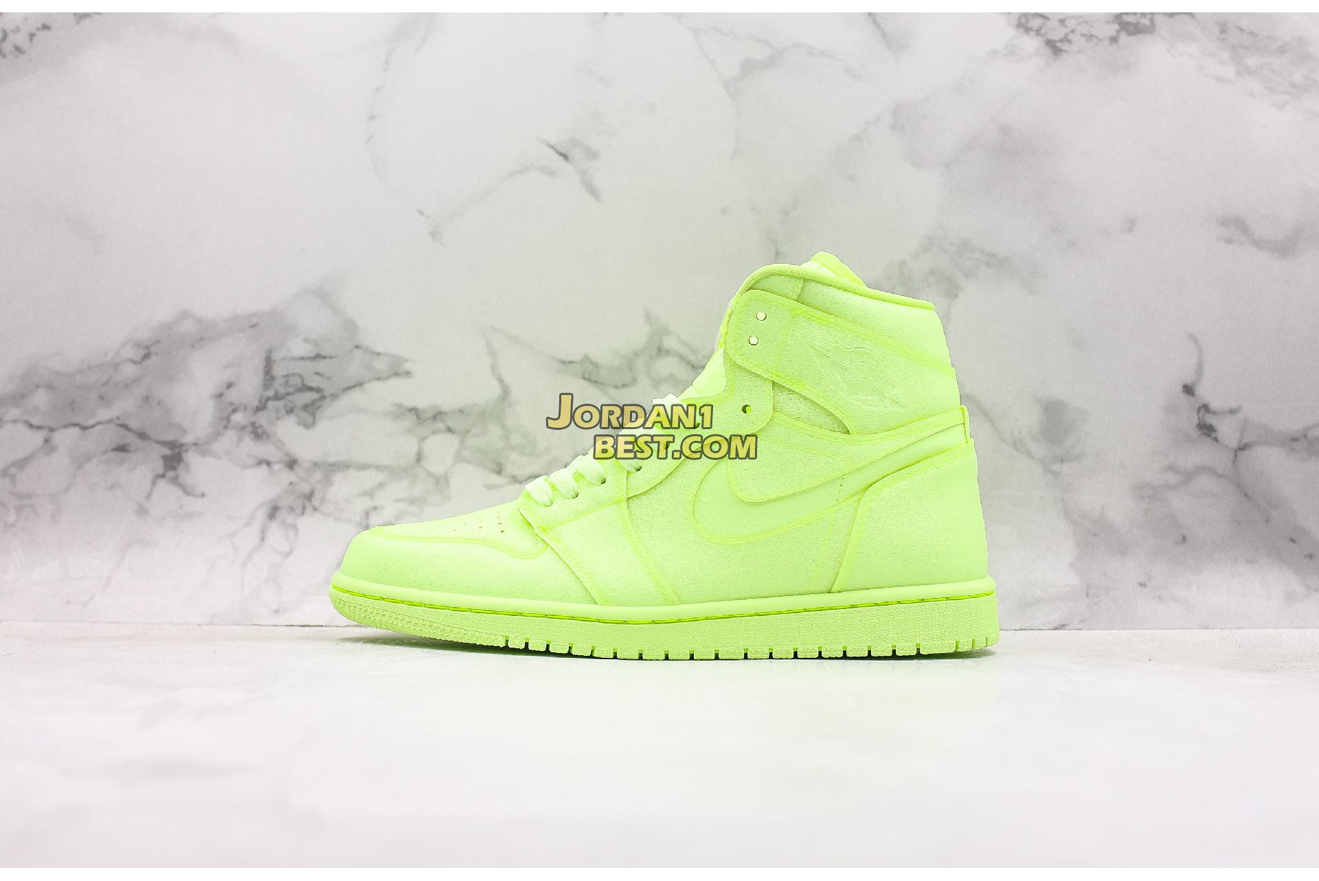 "Air Jordan 1 High PRM ""Barely Volt"" AH7389-700 Mens Womens"
