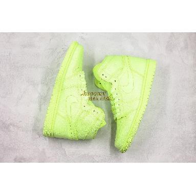 """best replicas Air Jordan 1 High PRM """"Barely Volt"""" AH7389-700 Mens Womens barely volt/barely volt Shoes replicas On Wholesale Sale Online"""