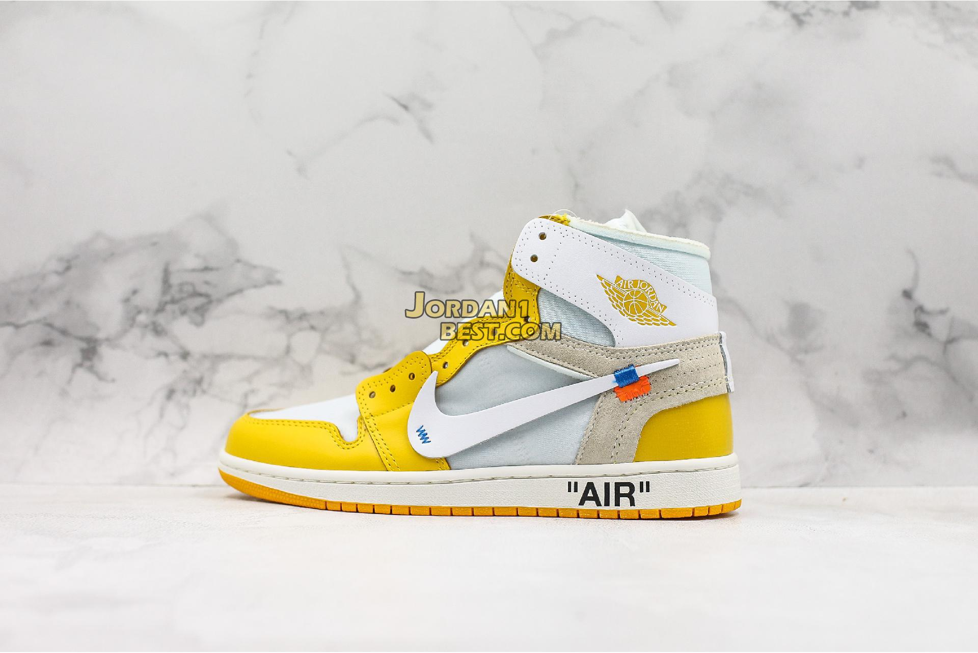 "OFF-WHITE x Air Jordan 1 Retro High OG ""UNC"" AQ0818-149 Mens"