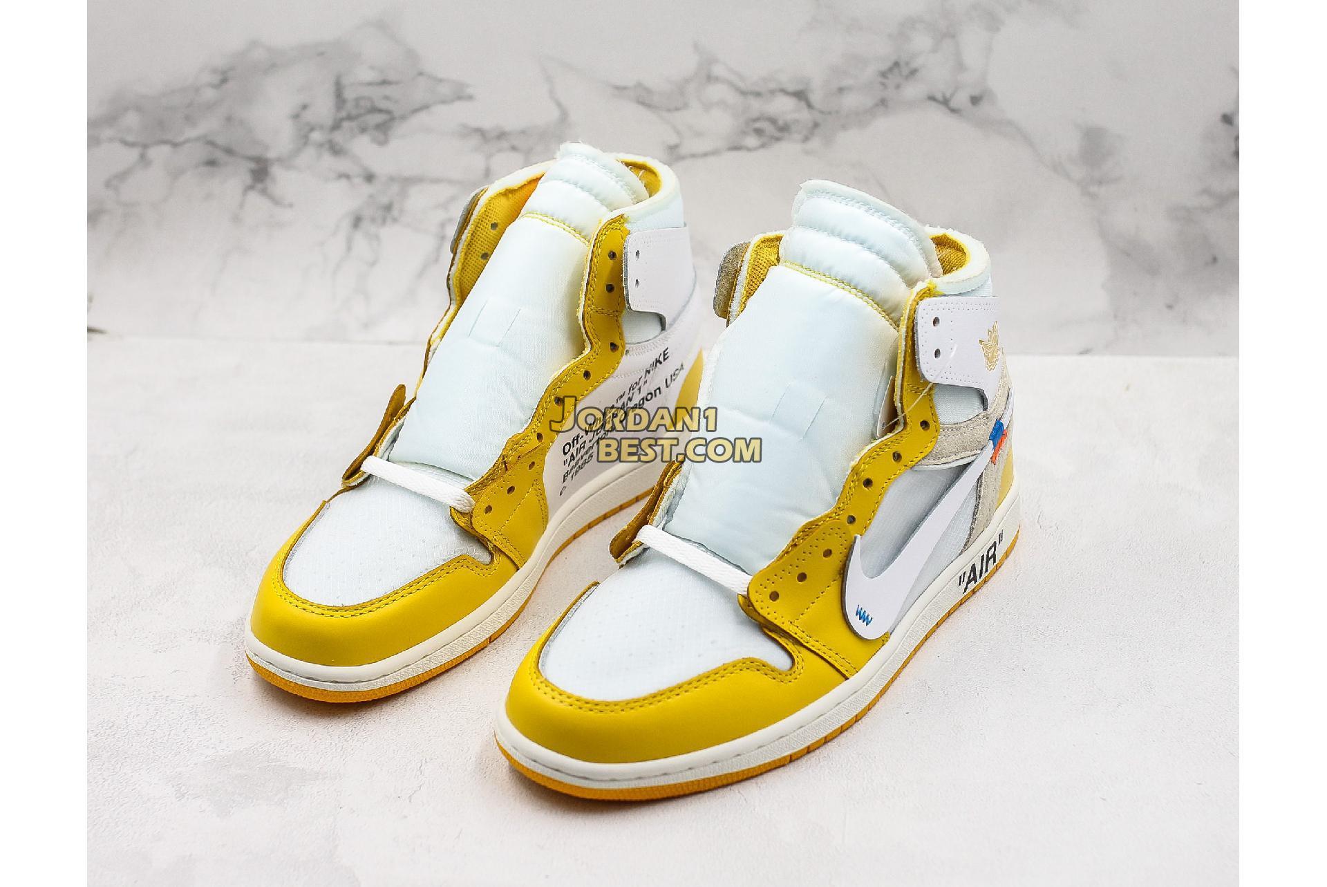"OFF-WHITE x Air Jordan 1 Retro High OG ""UNC"" AQ0818-149 Mens"