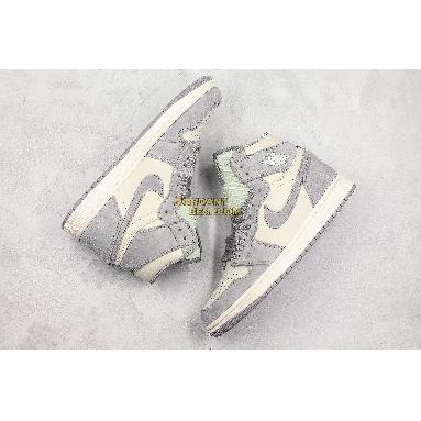 "fake Air Jordan 1 High Premium ""Atmosphere Grey"" AH7389-101 Mens Womens ivory/atmosphere grey-pale ivory Shoes replicas On Wholesale Sale Online"