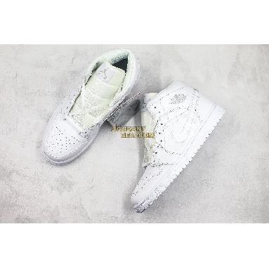 "best replicas Air Jordan 1 Retro Mid ""Triple White"" 554724-104 Mens Womens white/pure platinum-white Shoes replicas On Wholesale Sale Online"