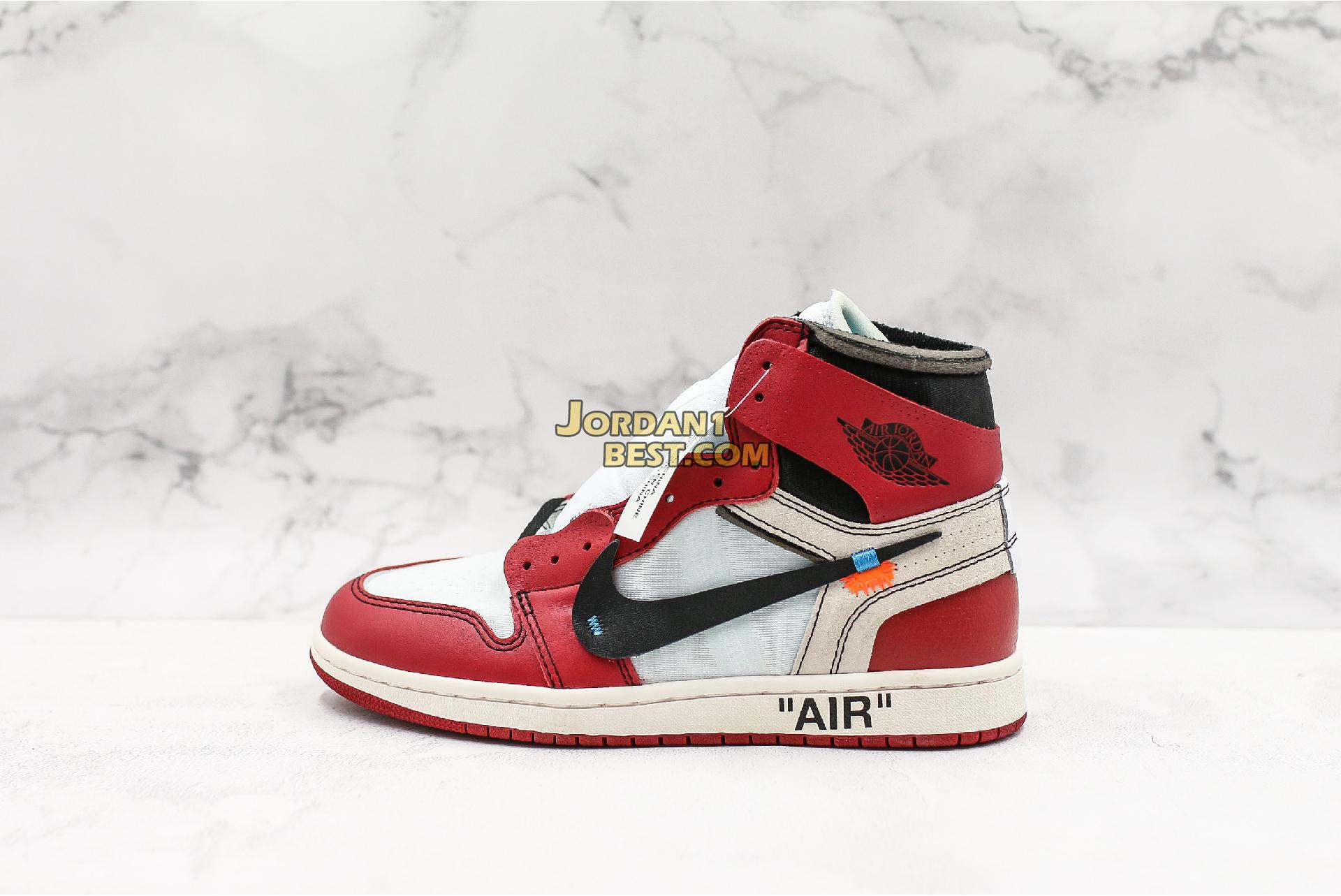 "OFF-WHITE x Air Jordan 1 Retro High OG ""Chicago"" AA3834-101 Mens Womens"