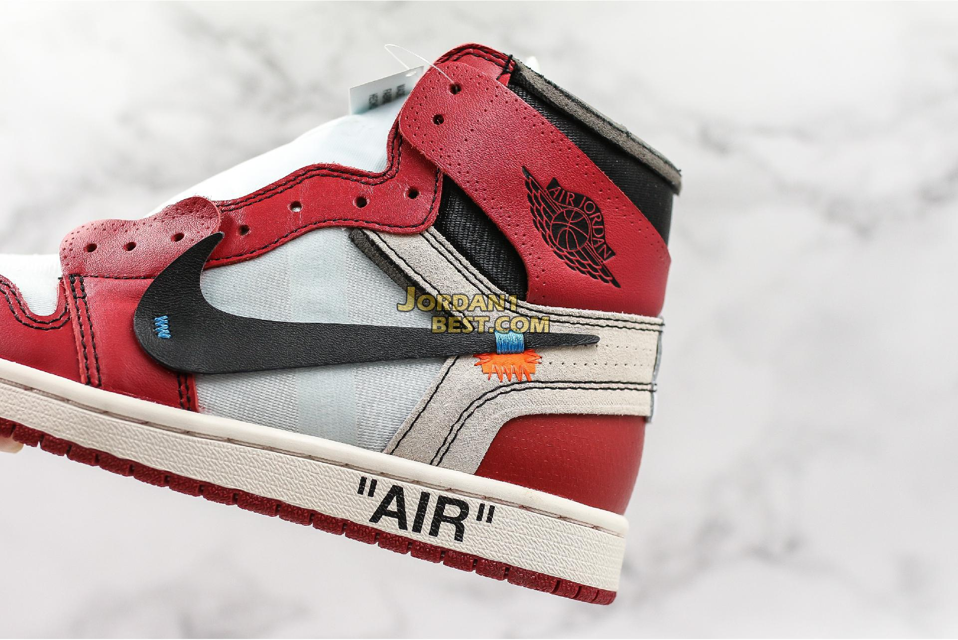 """OFF-WHITE x Air Jordan 1 Retro High OG """"Chicago"""" AA3834-101 Mens Womens"""