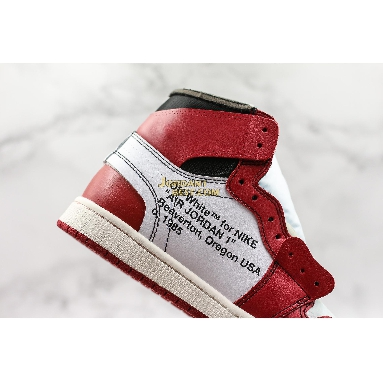 "top 3 fake OFF-WHITE x Air Jordan 1 Retro High OG ""Chicago"" AA3834-101 Mens Womens white/black-varsity red-black Shoes replicas On Wholesale Sale Online"