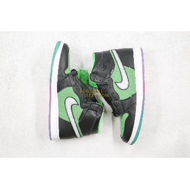 "top 3 fake Air Jordan 1 High Zoom ""Rage Green"" CK6637-002 Mens Womens black/tomatillo/rage green Shoes"