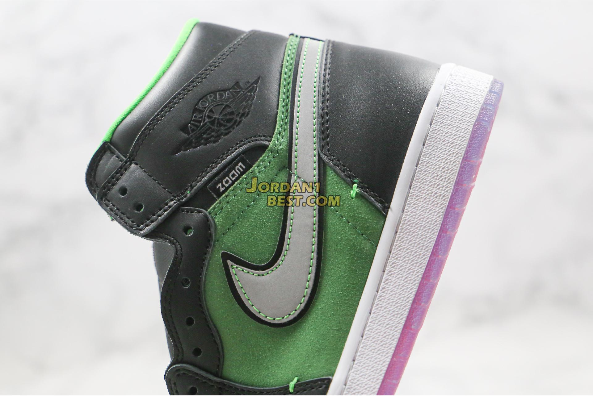 "Air Jordan 1 High Zoom ""Rage Green"" CK6637-002 Mens Womens"