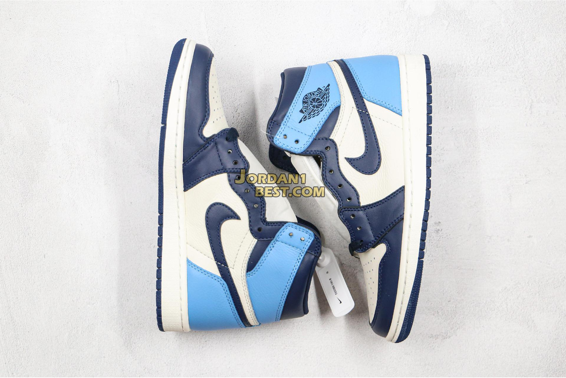"Air Jordan 1 Retro High OG ""Obsidian"" 555088-140 Mens Womens"