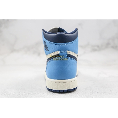 "new replicas Air Jordan 1 Retro High OG ""Obsidian"" 555088-140 Mens Womens sail/obsidian-university blue Shoes"