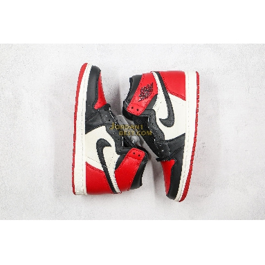 "best replicas Air Jordan 1 Retro High OG ""Bred Toe"" 555088-610 Mens Womens gym red/summit white-black Shoes"