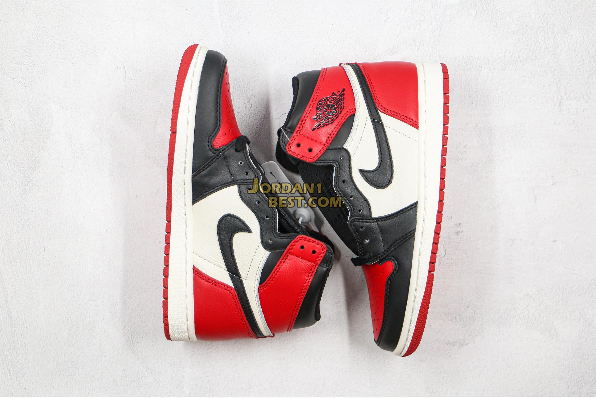 "Air Jordan 1 Retro High OG ""Bred Toe"" 555088-610 Mens Womens"