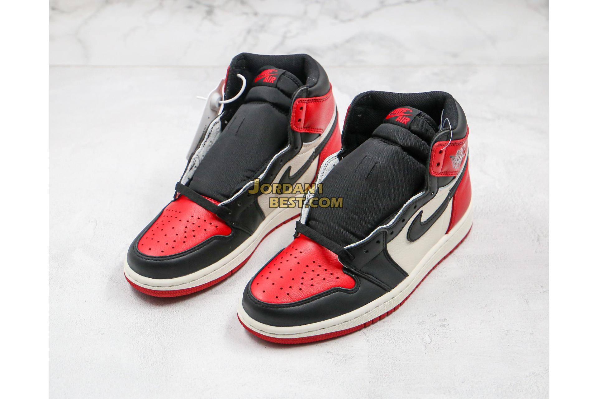 "Air Jordan 1 Retro High OG ""Bred Toe"" 555088-610 Mens Womens"