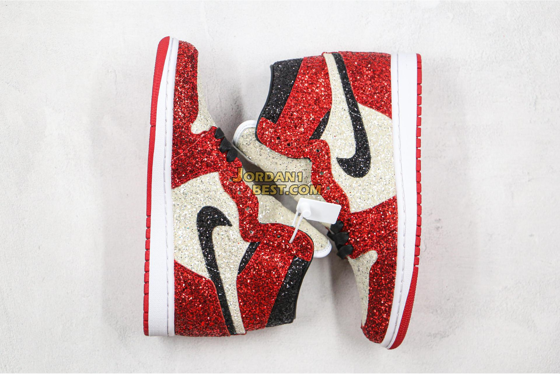 "Surgeon X Air Jordan 1 ""North Pole Chicago"" Custom Bred CK5566-610 Mens Womens"