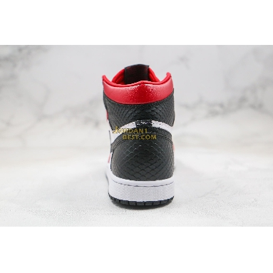 """fake 2020 Air Jordan 1 Retro High OG """"Satin Snake"""" CD0461-601 Mens Womens gym red/white-black Shoes"""