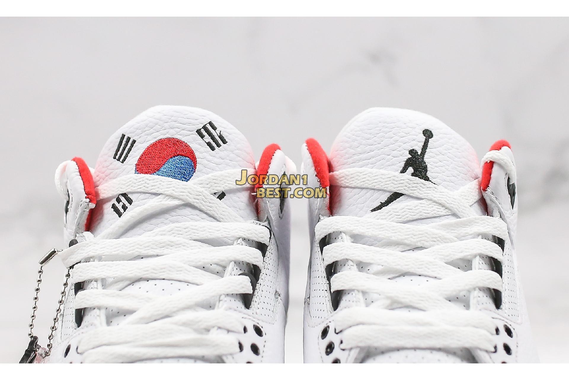 "Air Jordan 3 Retro ""Seoul"" AV8370-100 Mens"