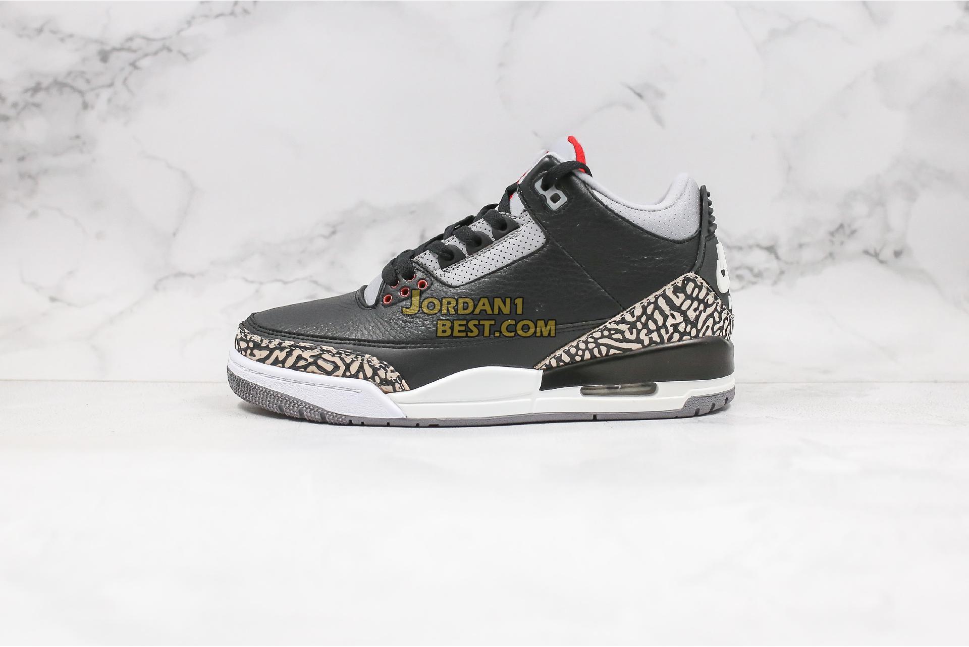 "Air Jordan 3 OG ""Black Cement"" 854262-001 Mens"