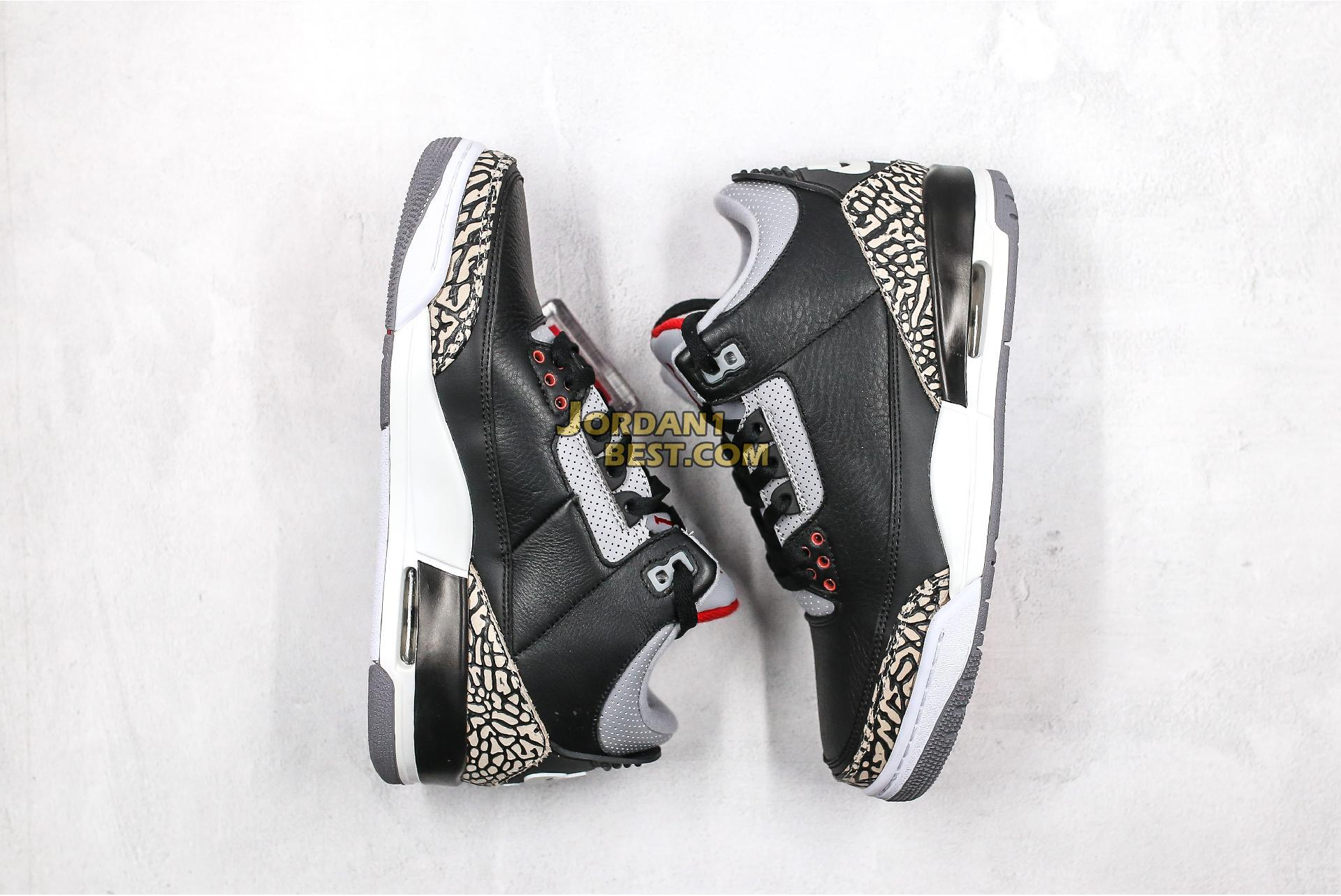 "Air Jordan 3 OG ""Black Cement"" 854262-001 Mens"