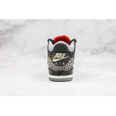 "fake Air Jordan 3 OG ""Black Cement"" 854262-001 Mens black/cement grey/white-fire red Shoes"