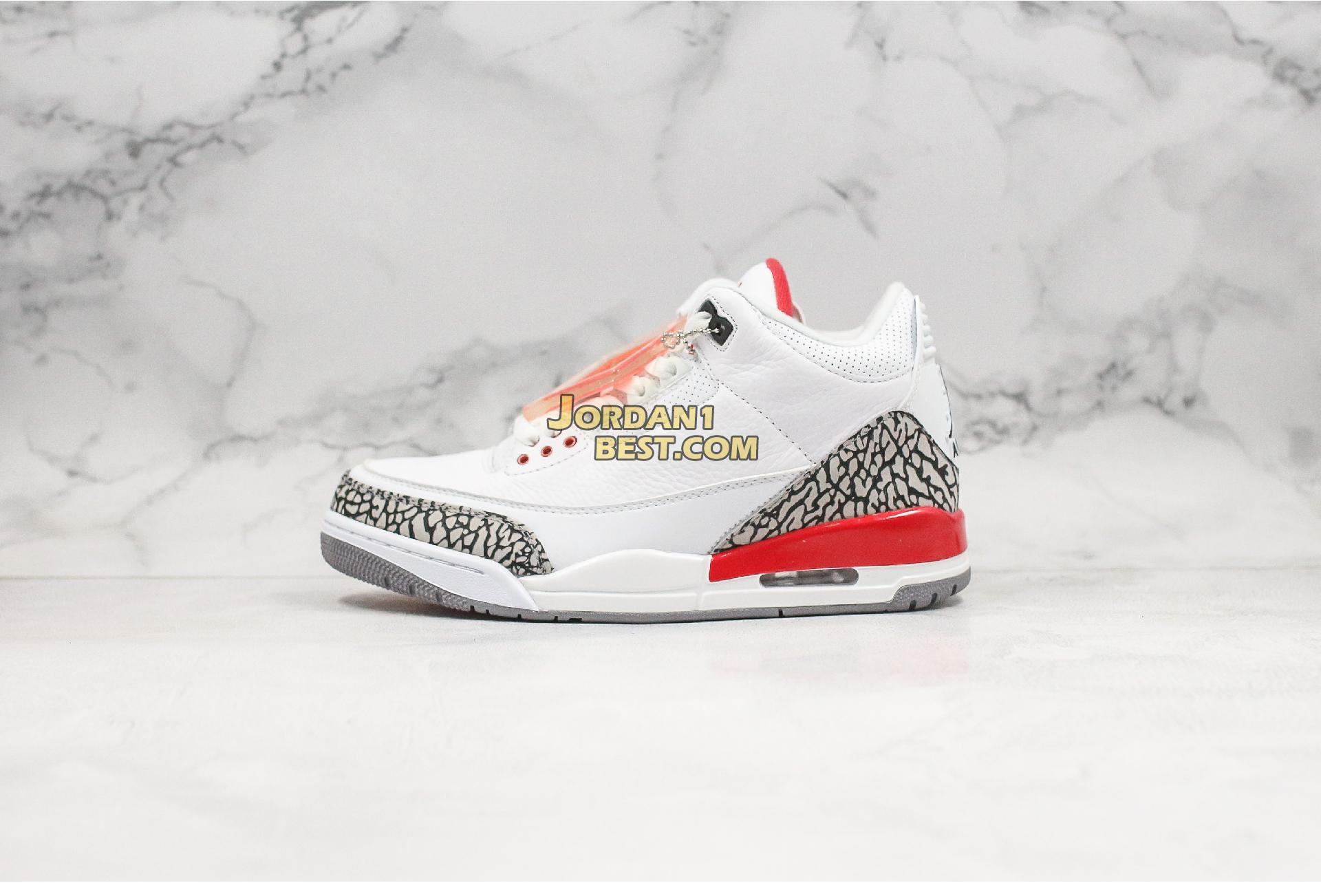 "Air Jordan 3 Retro ""Hall of Fame"" 136064-116 Mens"