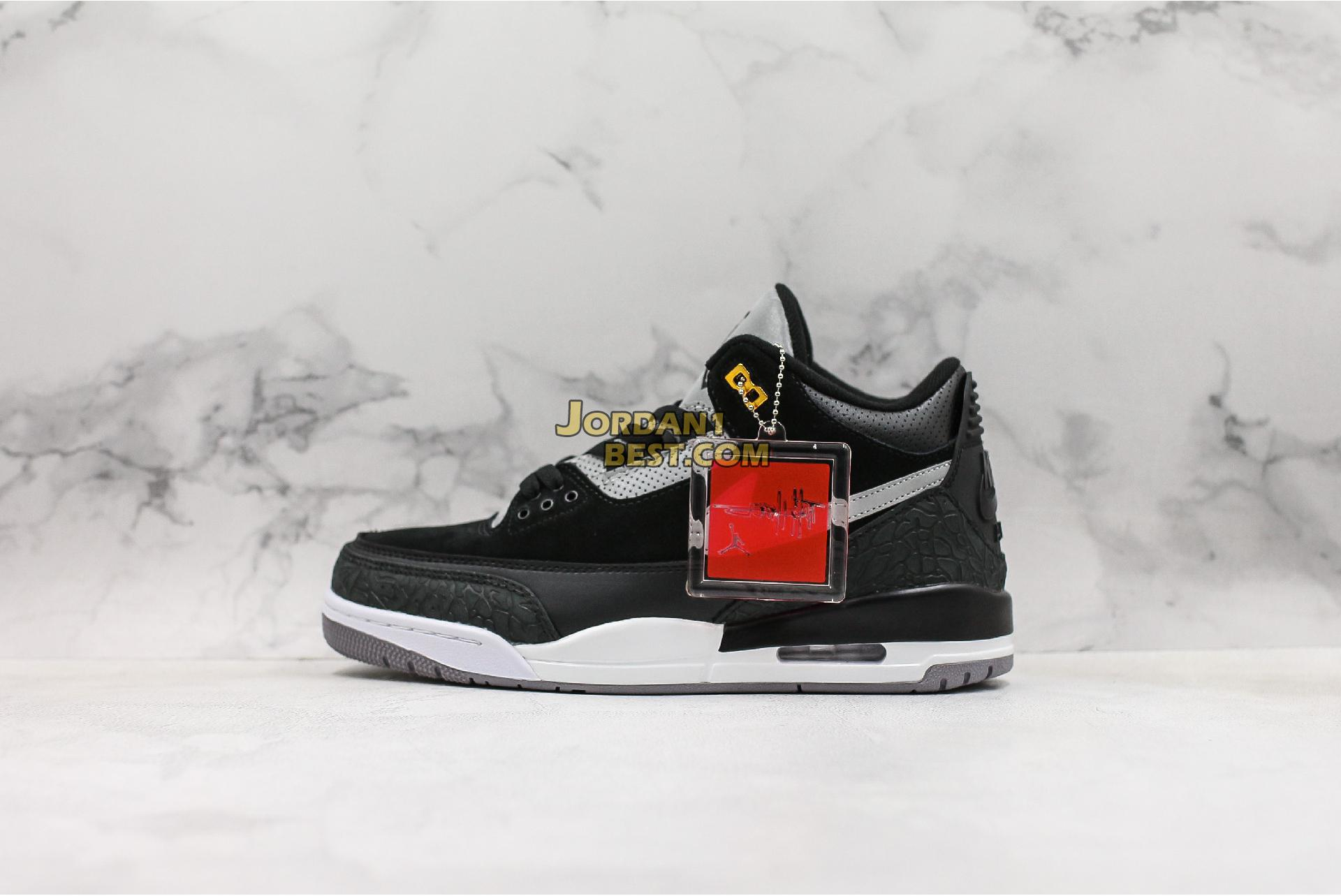 "Air Jordan 3 Retro Tinker SP ""Black Cement"" CK4348-007 Mens"