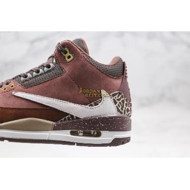 """new replicas Air Jordan 3 Retro """"Antique Brass"""" 626988-018 Mens brown/white Shoes"""