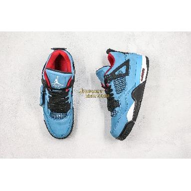 "AAA Quality Travis Scott x Air Jordan 4 Retro ""Cactus Jack"" 308497-406 Mens university blue/varsity red-black Shoes"