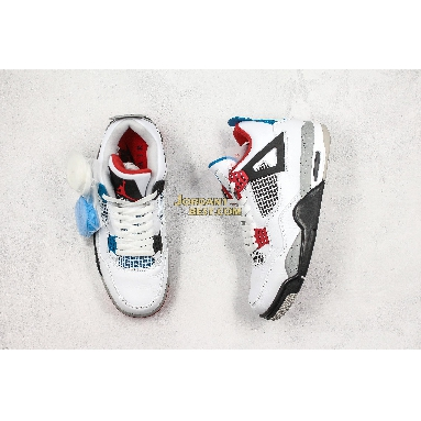 "top 3 fake Air Jordan 4 Retro SE ""What The 4"" CI1184-146 Mens white/fire red-tech grey-military blue Shoes"