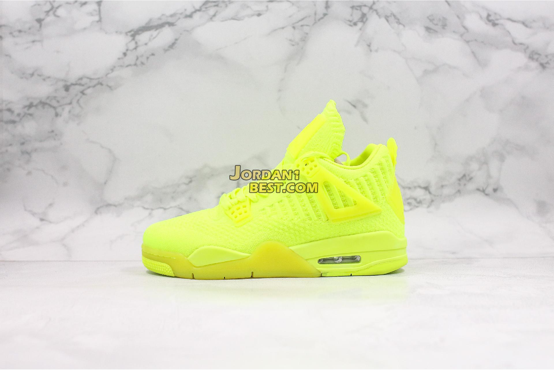 "Air Jordan 4 Flyknit ""Volt"" AQ3559-700 Mens Womens"