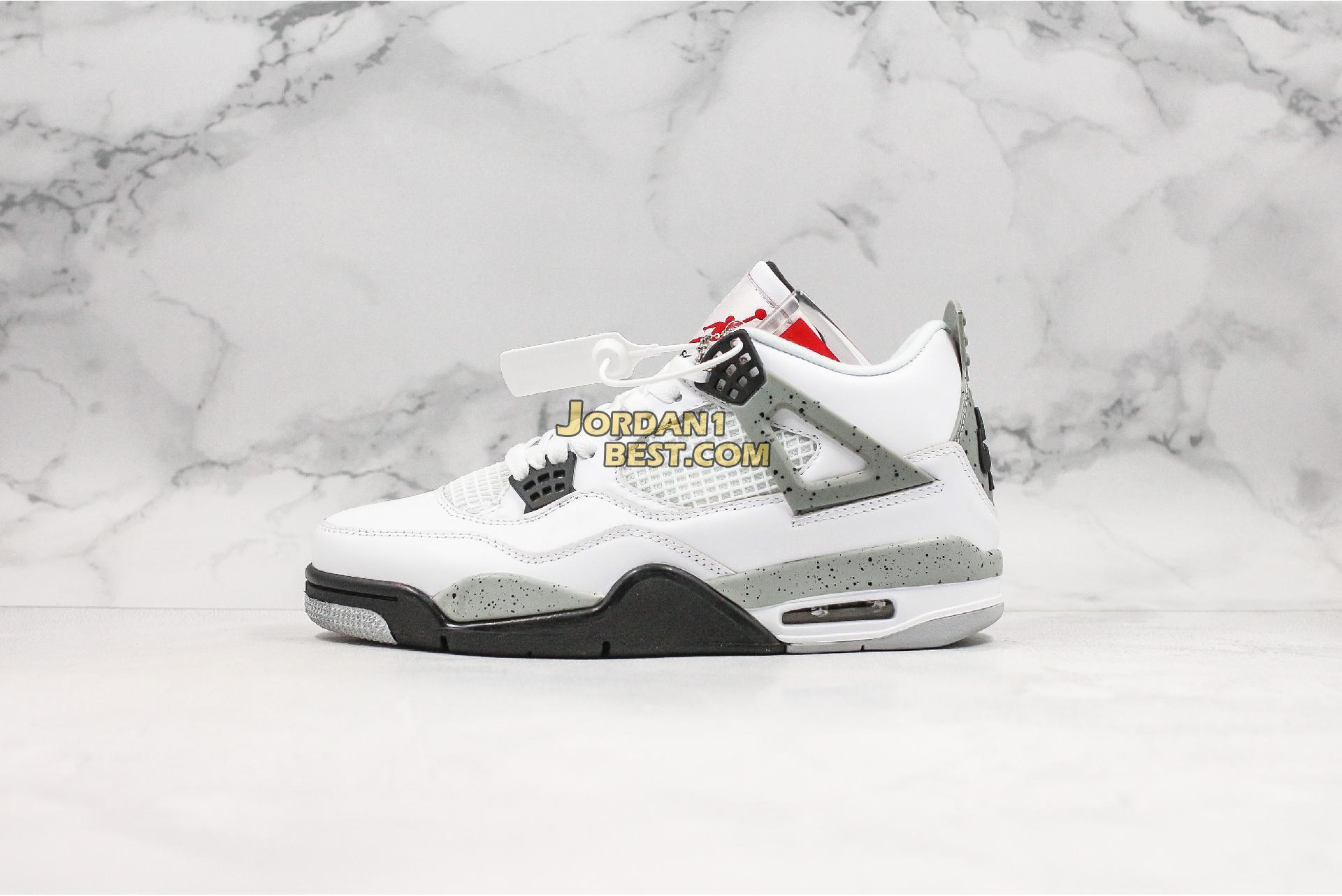 """2016 Air Jordan 4 Retro OG """"White Cement"""" 840606-192 Mens"""