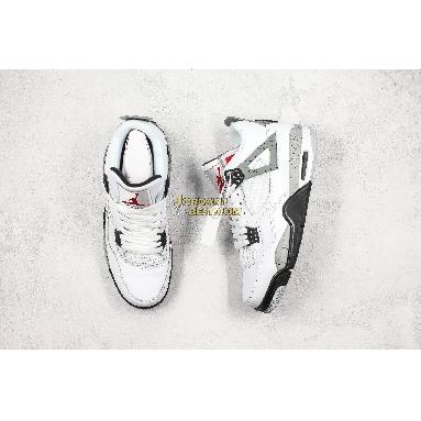 "top 3 fake 2016 Air Jordan 4 Retro OG ""White Cement"" 840606-192 Mens white/fire red-tech grey-black Shoes"