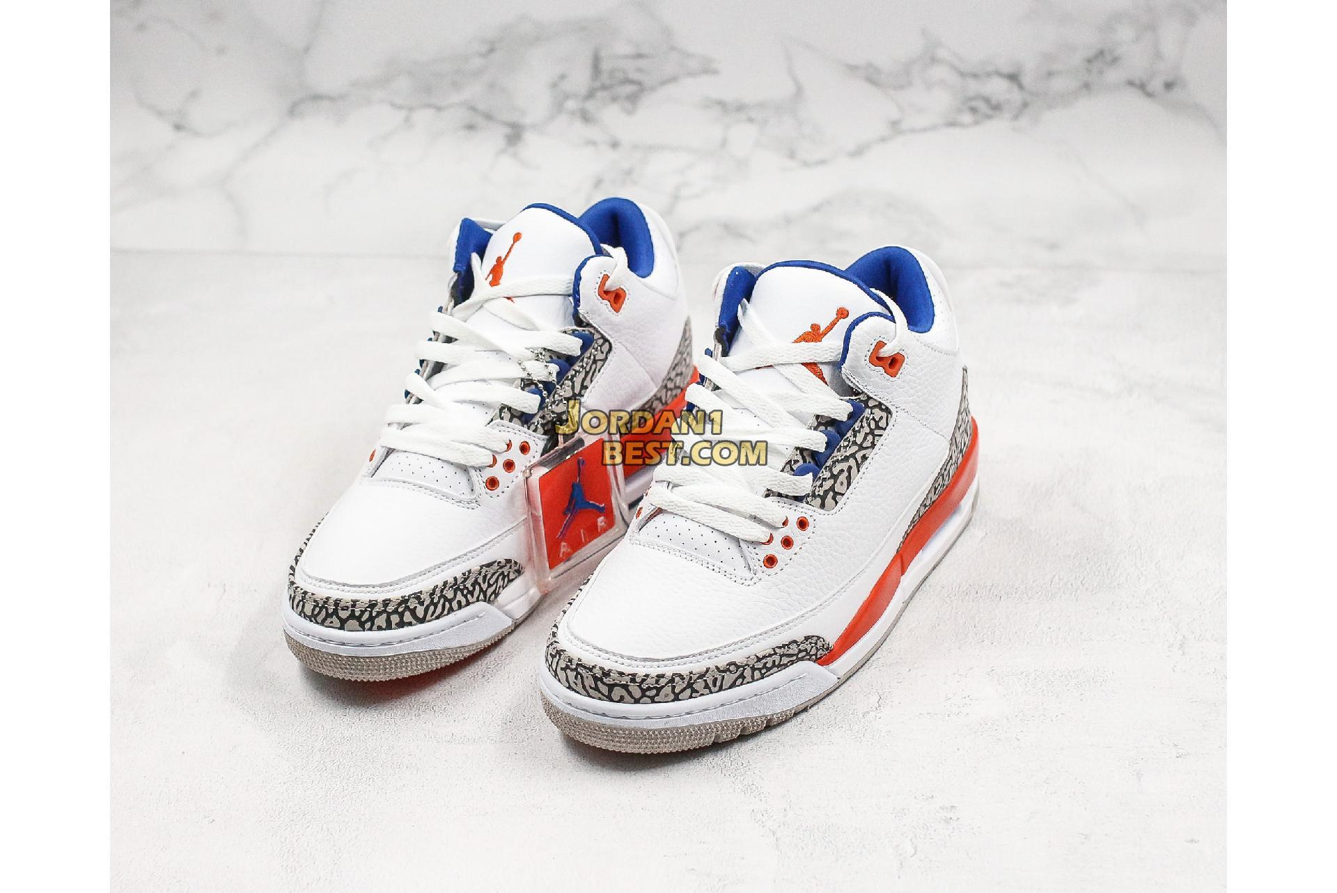 "Air Jordan 3 Retro ""Knicks"" 136064-148 Mens"