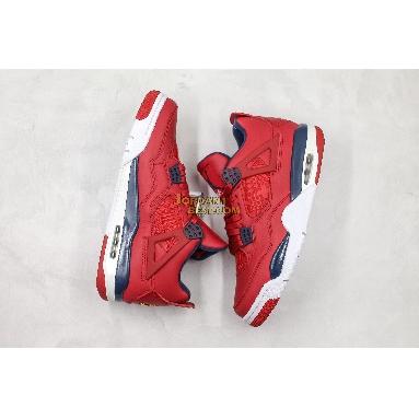"AAA Quality Air Jordan 4 Retro ""FIBA"" CI1184-617 Mens gym red/white-metallic gold-obsidian Shoes"