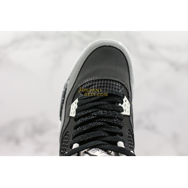 "new replicas Air Jordan 4 Retro ""Fear Pack"" 626969-030 Mens Womens black/white-cool grey-pure platinum Shoes"