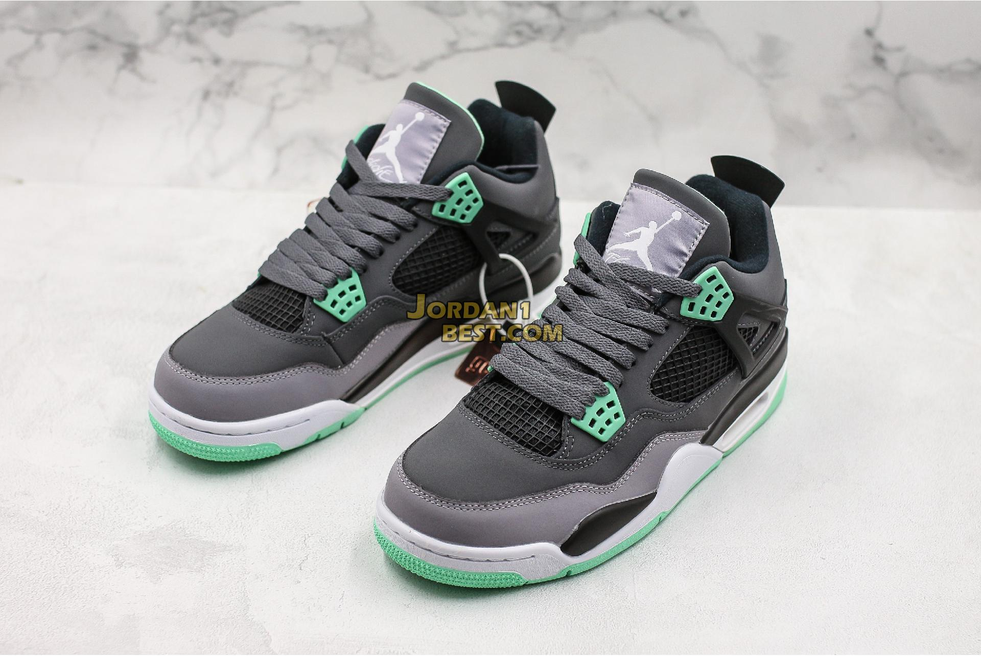 "Air Jordan 4 Retro ""Green Glow"" 308497-033 Mens Womens"