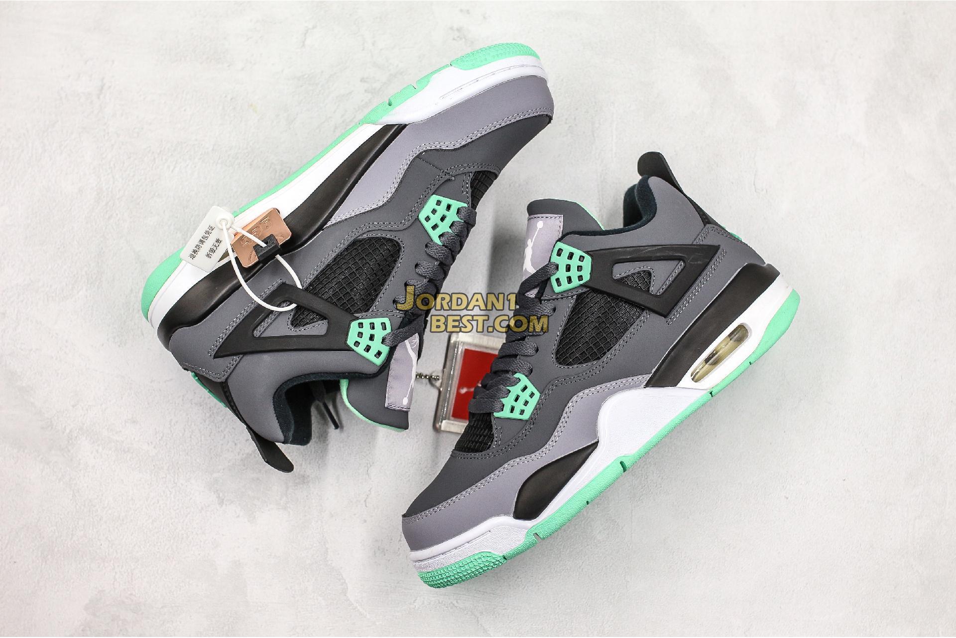 "Air Jordan 4 Retro ""Green Glow"" 308497-033 Mens Womens"